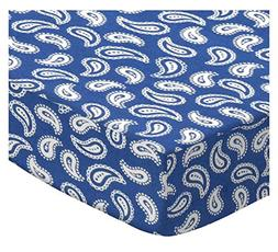 SheetWorld Fitted Stroller Bassinet Sheet - Primary Paisley