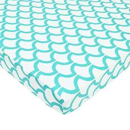 American Baby Company Fitted Portable/Mini Crib Sheet, 100%