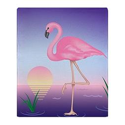 "CafePress Pink Flamingo Soft Fleece Throw Blanket, 50""x60"" S"