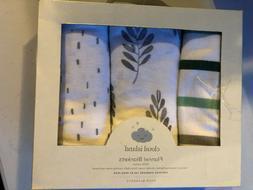 Flannel Baby Blanket - Cloud Island Green 3pk