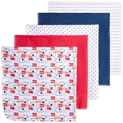 Rene Rofe Baby Baby 5 Piece Flannel Blanket Set, Red Cars, N