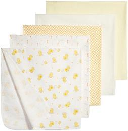 Rene Rofe Baby Baby 5 Piece Flannel Blanket Set, Cute Yellow