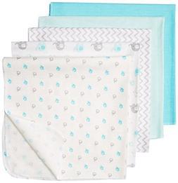 Rene Rofe Baby Baby 5 Piece Flannel Blanket Set, Grey Elepha
