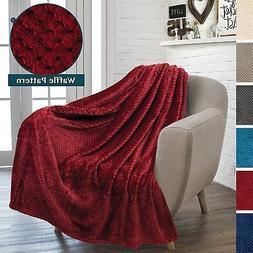 PAVILIA Premium Flannel Fleece Throw Blanket for Sofa Couch