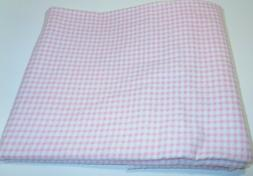 "Handmade Flannel "" pink gingham"" Baby Blanket Receiving Swad"