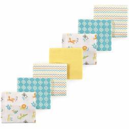 Luvable Friends 7 Piece Flannel Receiving Blanket, ABC, One