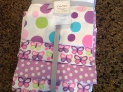 Carter's 4 Pack Flannel Receiving Blanket - Butterfly Dot
