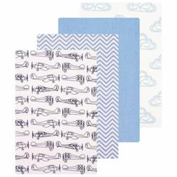 Hudson Baby 4 Piece Flannel Receiving Blankets, Airplane