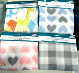 "FLEECE BABY BLANKET..30"" X 30"".. 6 DESIGNS TO CHOOSE FROM"