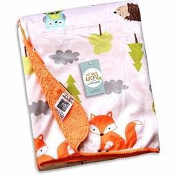 """R&E Services Fleece Baby Blanket, Perfect for Swaddling, 30"""""""