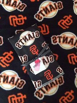 Fleece Blanket & Burp Cloth Made with San Francisco Giants F