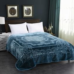 Fleece Blanket, Plush Blanket King Size, Heavy Korean Mink B
