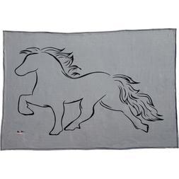 Karlslund Fleece Blanket with Horse