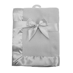 American Baby Company Fleece Blanket 30 X 40 with 2 Satin Tr