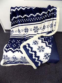 Fleece Sherpa Throw Blanket Lap Throw Blanket Christmas Thro