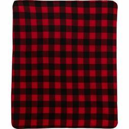 "Northpoint Fleece Throw Blanket 50"" X 60"" NEW Buffalo Check"