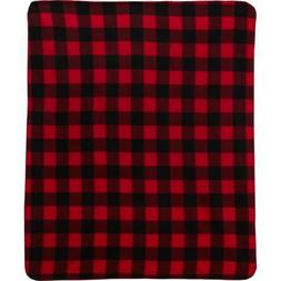 "Northpoint Fleece Throw Blanket 50"" X 60"" NEW Buffalo Check"