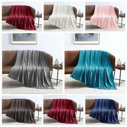 Fleece Velvet Plush Throw Blanket Ultrasoft Elegant 4 Color