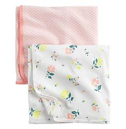 Carter's® Baby Girls' 2-Pack Floral And Geo Swaddle Blan
