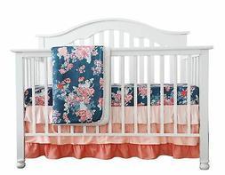 Sahaler Floral Minky Blanket Baby Girl Dot Ruffle Blankets I