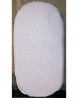 Oval Foam Bassinet Mattress - 16 x 32 x 2 Inches, Thick