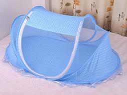 Foldable Baby Mosquito Net Print Polka Dot Infant Yurts Styl