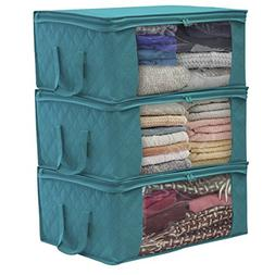 Sorbus Foldable Storage Bag Organizers, Large Clear Window &