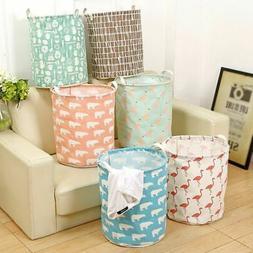 Folding Storage Basket Laundry Hamper Kids Toy Bin Bathroom