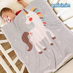 <font><b>Baby</b></font> Blanketsunicorn Knitted Newborn Swa
