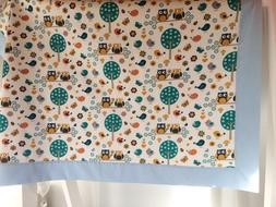 Forest Animals Baby Blanket/Receiving Blanket for a Girl or