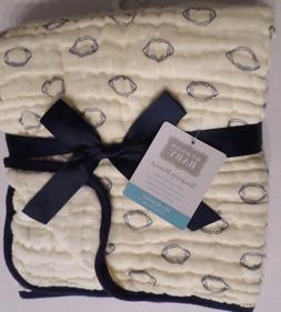 Hudson Baby Four Layer Muslin Tranquility Blanket, Football,