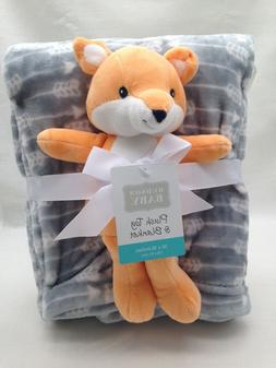 Fox baby plush and blanket