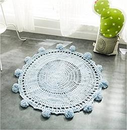 Fox Playmat Handmade Crochet Blanket Kids Area Rugs Round ca