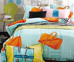 French Country Cottage Style Duvet Cover Bedding Set Travel