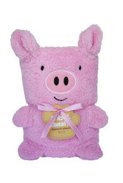 "NWT Jack /& Friends *RARE* Cuddly PINK PIG Blanket 24/""x36/"""