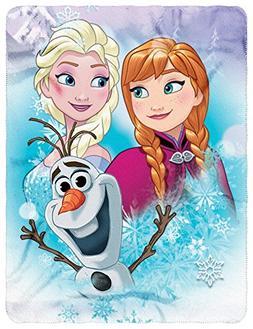 """Disney Frozen, Snow Journey Fleece Throw Blanket, 45"""" x 60"""","""