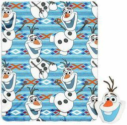 "Frozen, ""Big Face Olaf"" Character Pillow and Fleece Throw Bl"