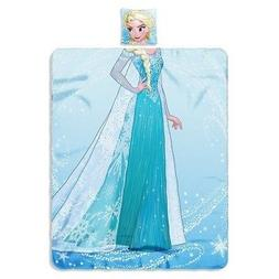 "Frozen ELSA Doll 40"" x 50"" Fleece Throw Blanket AND Plush Hu"