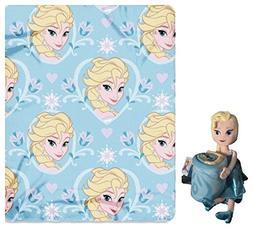 Disney Frozen Elsa Toddler Fleece Throw Blanket and Cuddle P