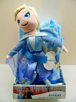 Disney Frozen II Character Pillow And Throw Blanket Set