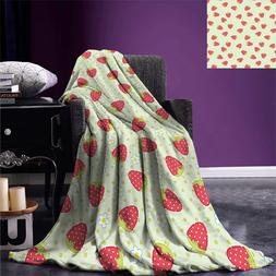 Fruits Throw <font><b>Blanket</b></font> Spring Daisy Blooms