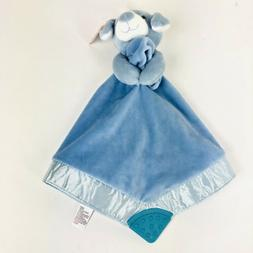 G By Gund Baby Boy Security Blanket Blue Puppy Teether New W
