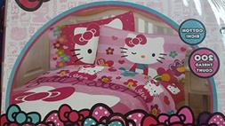 Hello Kitty Garden of Love Twin Sheet Set