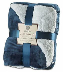 Genteele Sherpa Throw Blanket Super Soft Reversible Ultra Lu