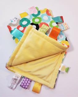 Genuine Taggies Circles Plush Security Comforter Blankets
