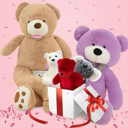 Giant Teddy Bear Stuffed Animals LifeSize Plush Toy Doll for