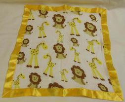 MiracleWare Giraffe Lion Baby Lovey Security Blanket Muslin