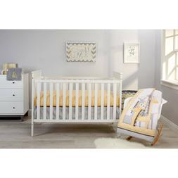 NoJo Giraffe Time Bedding Crib Set 4 Piece Infant Nursery Ba