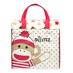 Baby Starters Girl Boy Classic Sock Monkey Ivory Blanket Bag