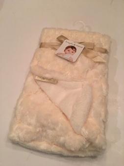 Blankets & Beyonds Baby Girl / Boy Blanket White Rosette Swi